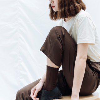 hao brown Relaxed Chino Trousers brown casual trousers