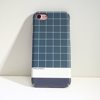 GRAPHIC PRINT - GREEN GRID iPhone CASE