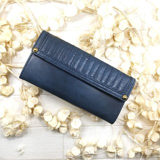 Soft leather leather purse length wallet leather spicy mouthpiece tap drape