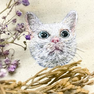 Feeling Embroidery / Custom Order Embroidery Animal Cat 襟 Order Contact Information Before Ordering Contact