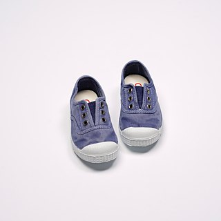 Spanish national canvas shoes CIENTA children's shoes size washed old denim blue scented shoes 70777 90