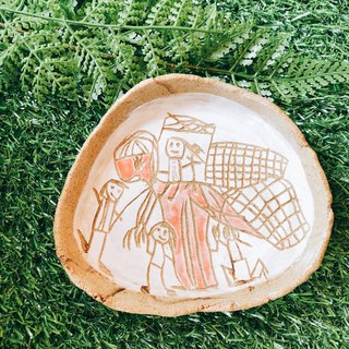 [Go to the Arctic for three months] hand-carved pottery │ En Niu who 呦 x pottery tray