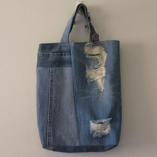 booboohug - 二手牛仔褲拼接包 remade denim patchwork bag