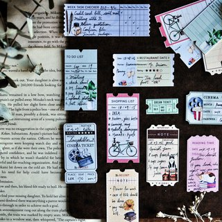 Life Ticket Masking Tape - Collage / Notepad / 4cm