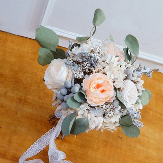 Amor Floral - artificial silk flower mixed dry bouquet bridal bouquet / wedding photography (C models)