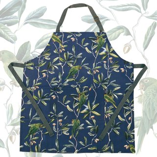 PARAKEET midnight blue apron