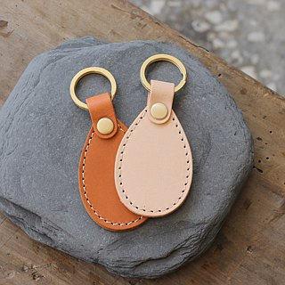 [New listing] leather key ring | drop shape four colors | can purchase laser lettering