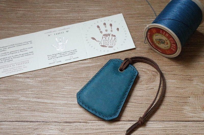 pueblo磨砂皮 悠遊卡晶片吊飾-B款-藍色