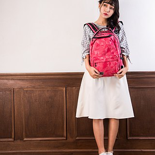 "SOLIS [ Prism Art Series ] 13"" Ultra+ premium laptop backpack(fuchsia)"