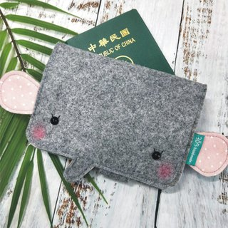 Balloon-Elephant Passport Set (Peach Pink Dot)