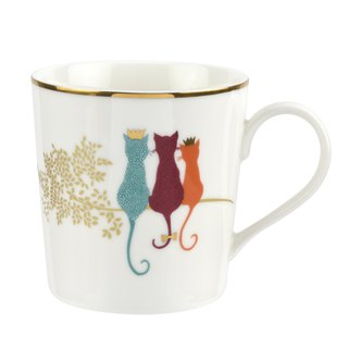 Sara Miller London Piccadilly Feline Friends Mug