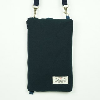 HAZA touch dual phone bag / bag (with hook strap) dark blue