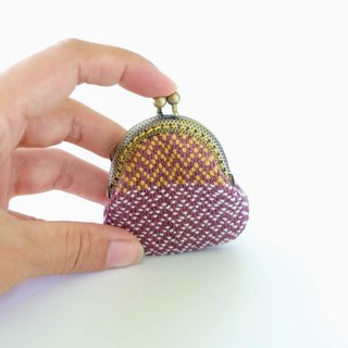 My Handwoven Petite Kisslock Purse - chevron pattern
