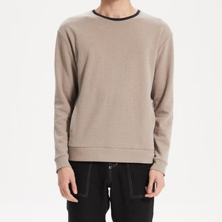 Light grey wash style contrast color sweater