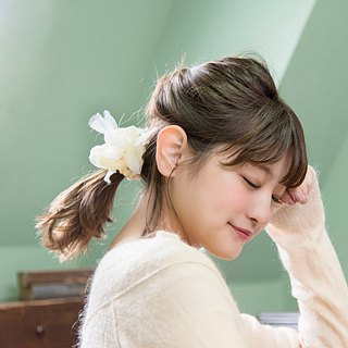 mini || Dandelion : Blooming Sakiami Colourful Hair Scrunchy / Hair Accessory
