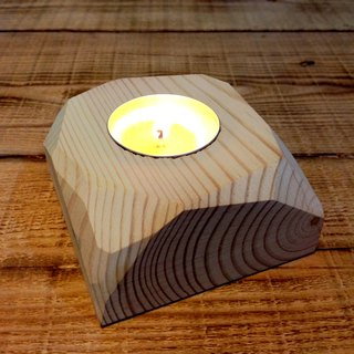 Wen Tang know - [Thinking] angle Paradise logs hand-made Candlestick