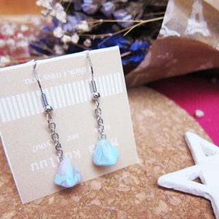 [Blue Quartz Pink - triangular cone earrings]