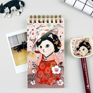 JETOY, sweet cat pocket notebook (check list)_Myeong wol J1704304 (gift value 160 ballpoint pen)