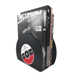 vinyl record bookends  (2pc) CD/DVD/Book Stand