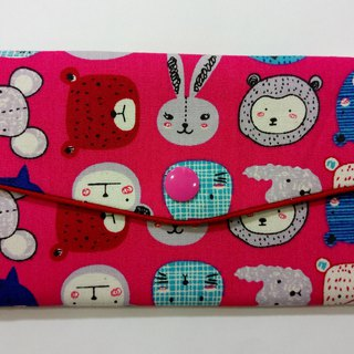 Lucky double red envelope bag / passbook storage bag (18 cute animals)
