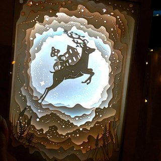 | Light and Shadow Story | Paper Carved Night Light | Deer Planet |