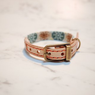 Dog collars, S size, Old style Brick_DCJ090414