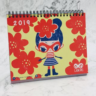 2019 CALENDAR【FLYING SOFYE】ILLUSTRATED DESK CALENDAR