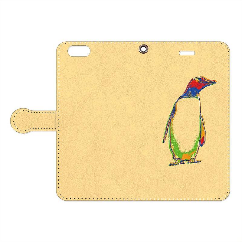 筆記本型iPhone手機殼/圖形企鵝