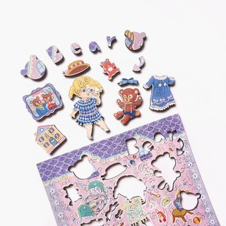 120P Wooden Puzzle _ Three Bear Bear