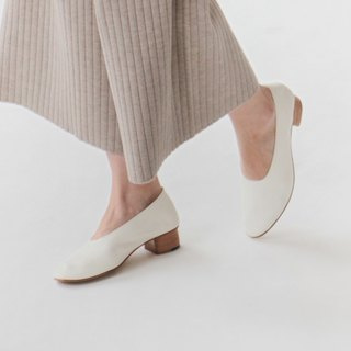 KOOW Minimalist does not drag mud with water soft and light thick with retro grandma shoes women with full leather handmade