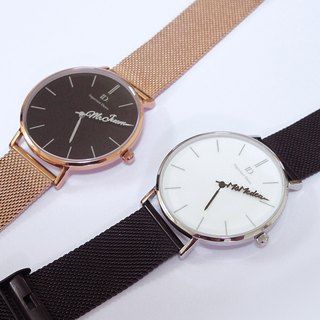 Customized watch couple, intimate watch - Classic metal strap