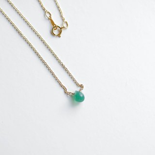 Have your regretless necklace │ green chalcedony full 14kg production