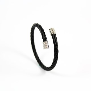 Bibi tastes carefully selected series - industrial wind bracelet / big black / adjustable width (mail free shipping)