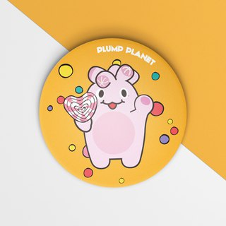 【Plump Planet Friends】Pin back Badge | Candy Planet
