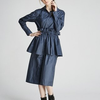 Wrinkle cut dress (1702SH01BL-S / M)