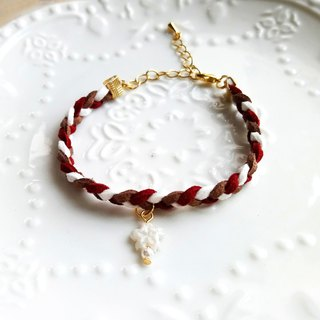 White cherry Korean cashmere bracelet