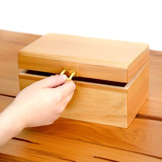 Taiwan Elm Collection Box | Wenrun Gold Color Solid Wood Universal Storage Wooden Box