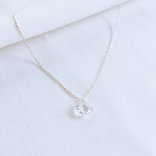 Memories of condensed clavicular chain S925 sterling silver necklace anti-allergic