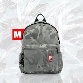Free shipping I AM-NANA M (middle) backpack - camouflage ash