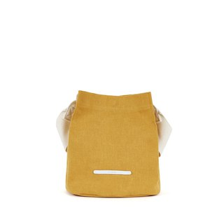RAWROW-City Series - Canvas Bucket Bag (Small) - Mustard Yellow - RCR711MU