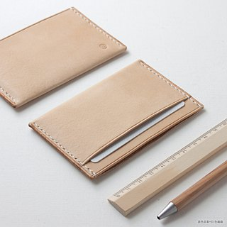 SEANCHY Leather card holder / business card holder - Hand stitched Leather