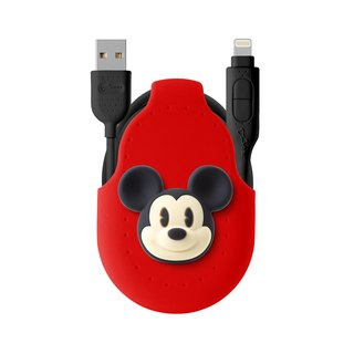 Bone / two in one dual transmission line charging cable dual line Android APPLE official certification iPhone - Mickey