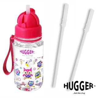 HUGGER Children's Straw Kettle Owl Tritan Non-toxic Safety Material with Replacement Straw