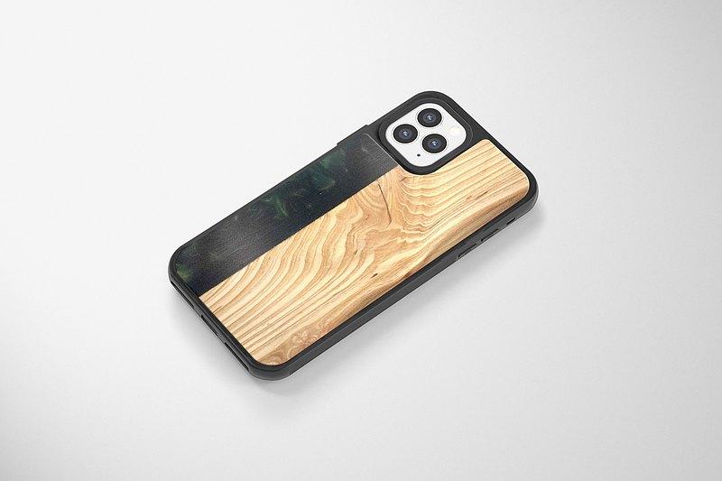 iPhone 8/X/11/12 手機殼 原木 Epoxy - 原木淵邊