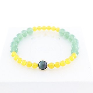 Wish to achieve wealth yellow chalcedony bracelet