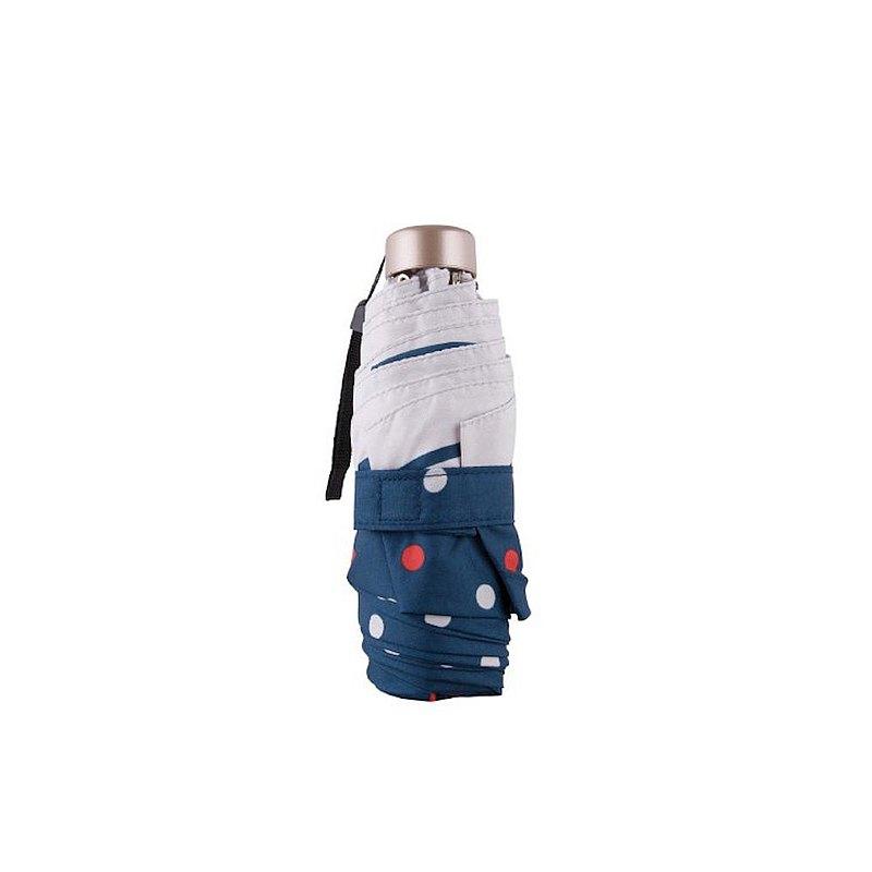 Boy 藍標超迷你摺疊雨傘 - TW5009F 波點