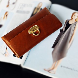กระเป๋าหนังแท้ Minimal Wallet Tan Color Hand-cut & Hand-sew process