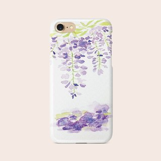 "Phone Case ""Wisteria Flowers"" design by Little 149 A006CC003"