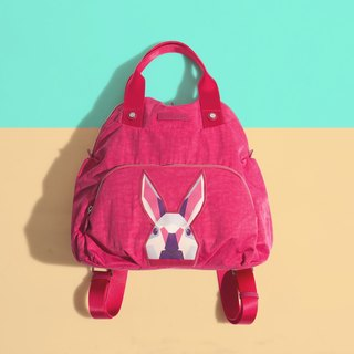 Khieng Atelier Diamond Rabbit back shell diamond rabbit backpack - love powder