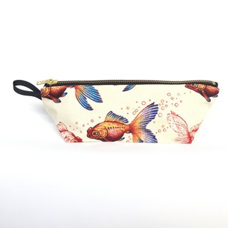 Hand-painted Goldfish Madness Pouch